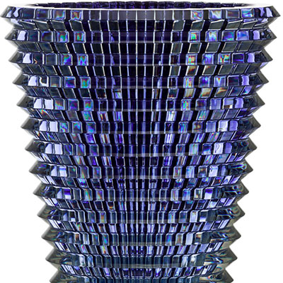 "Baccarat Crystal, Eye 16 1/2"" XL Oval Vase, Blue"
