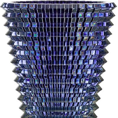 Baccarat Crystal, Eye XL Oval Crystal Vase, Blue