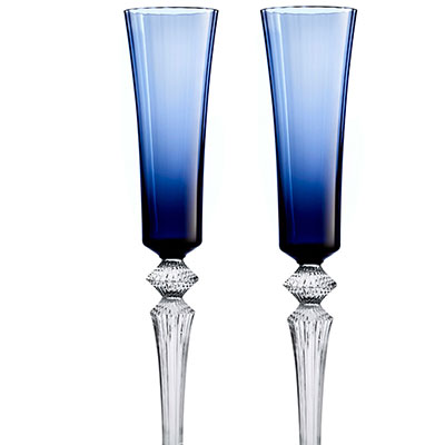 Baccarat Mille Nuits Flutissimo Midnight Flutes, Pair