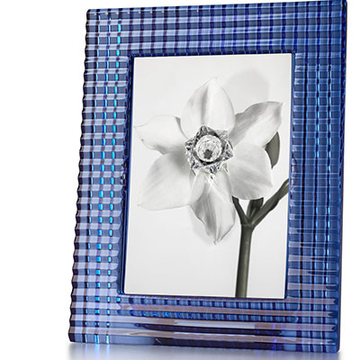 Baccarat Crystal, 5x7 Eye Picture Frame, Blue
