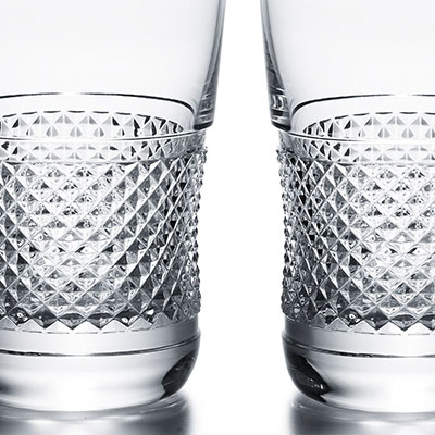 Baccarat Crystal, Diamant Crystal Highball Glass, Pair