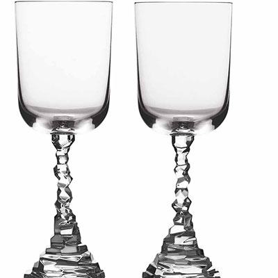 Michael Aram, Rock Water Glass, Pair