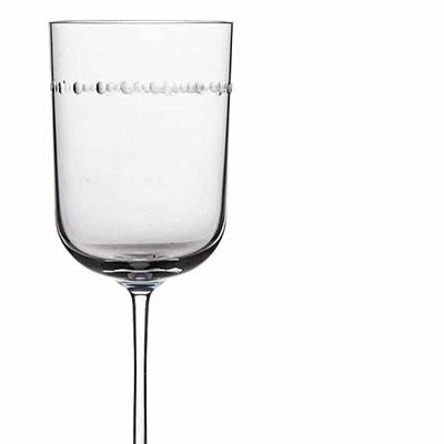 Michael Aram, Hammertone Crystal Wine Glass, Pair