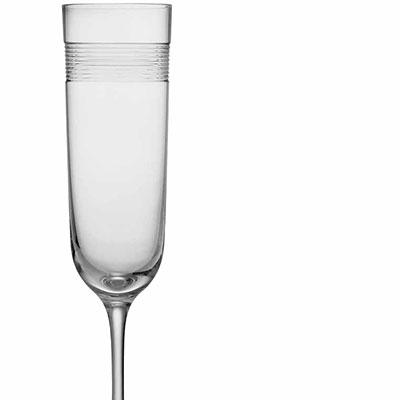 Michael Aram, Wheat Crystal Champagne Crystal Flute, Single