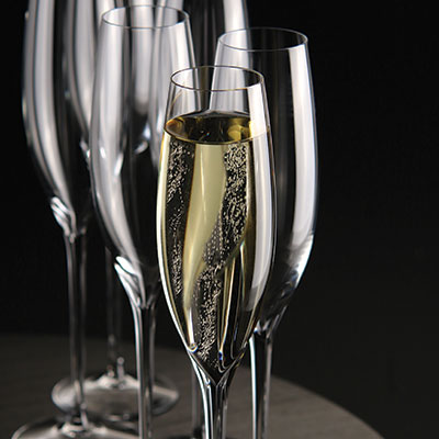 Waterford Crystal, Elegance Crystal Champagne Classic Toasting Flutes, Pair
