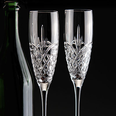 Waterford Crystal, Love Forever Crystal Flutes, Pair