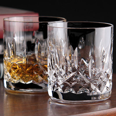 Waterford Crystal, Lismore Straight Sided Crystal Whiskey Tumblers, Pair