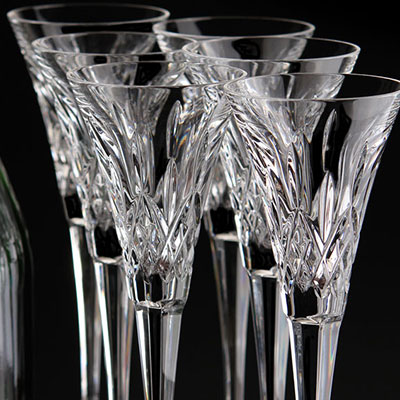 Waterford Lismore Toasting Flute, Boxed Set 5+1 Free