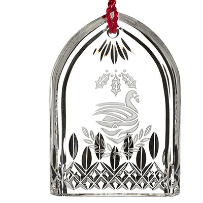 Waterford Crystal, 12 Days of Christmas Lismore Seven Swans Crystal Ornament