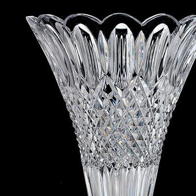 """Waterford Crystal, House of Waterford Georgian Windows 14"""" Crystal Vase"""