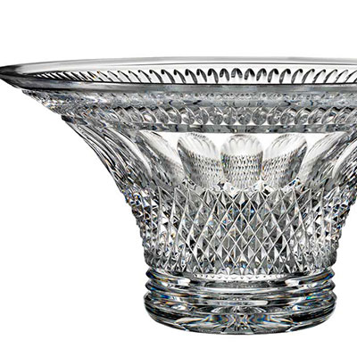 "Waterford Crystal, House of Waterford Colleen 12"" Trilogy Crystal Bowl"