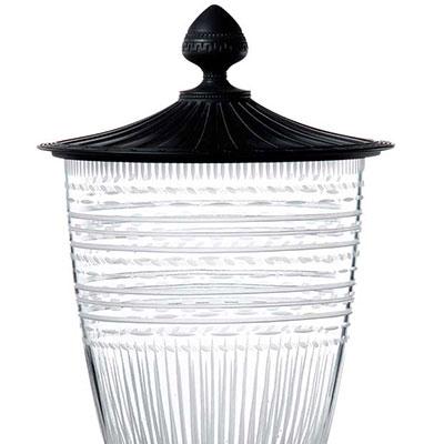 Wedgwood Iconic Crystal Vase with Jasper Lid, Large