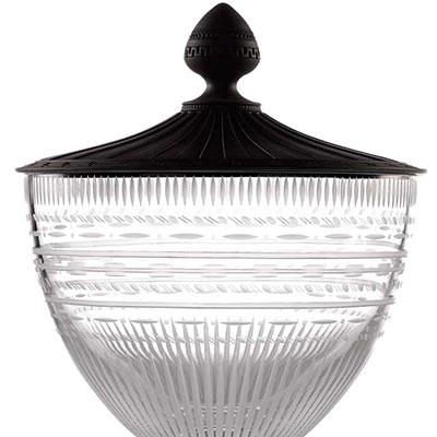 Wedgwood Iconic Crystal Vase with Jasper Lid, Medium