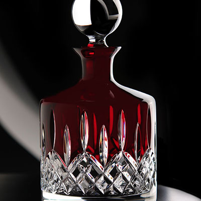 Waterford Crystal, Lismore Red Crystal Decanter