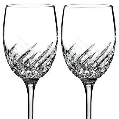 Waterford Crystal, Essentially Wave Crystal Wine, Pair