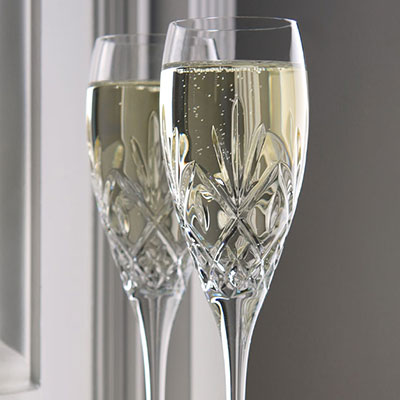 Waterford Huntley Toasting Flutes, Pair