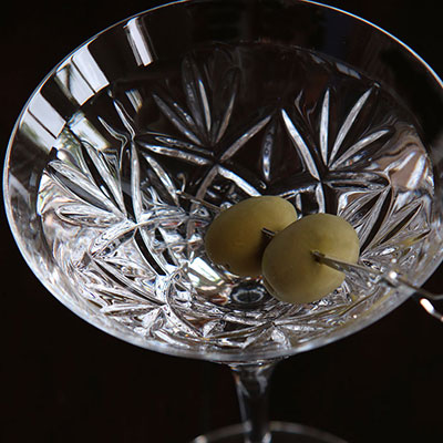 Waterford Crystal, Huntley Crystal Martinis, Pair
