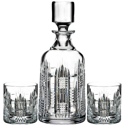 Waterford Crystal, Dungarvan Spirit Crystal Decanter and Crystal DOF Tumbler Pair, Set