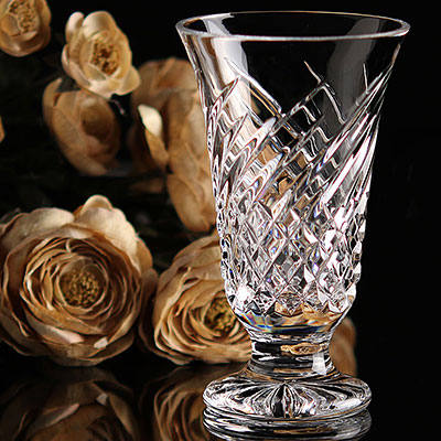 "Waterford Crystal, Wave 6"" Crystal Vase"