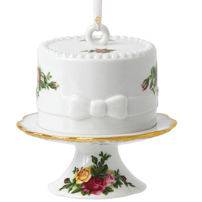 Royal Albert Old Country Roses Cake with Cake Stand 2018 Ornament