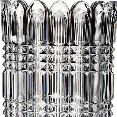 "Waterford Crystal, House of Waterford John Connolly Kilkenny Footed 17"" Crystal Vase, Limited Edition of 400"
