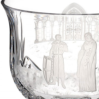 """Waterford House of Waterford Princess Aoife Footed 10"""" Bowl, Limited Edition of 60"""