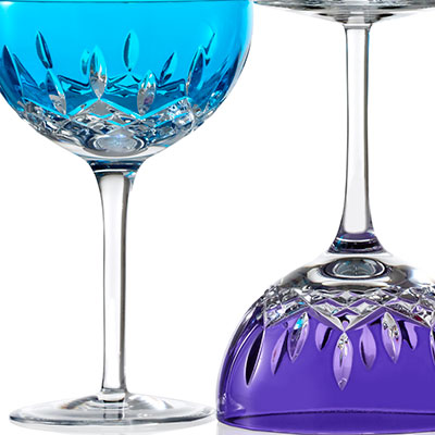 Waterford Lismore Pops Aqua Cocktail, Pair
