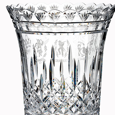 Waterford House of Waterford 12 Days of Christmas Vase, Limited Edition