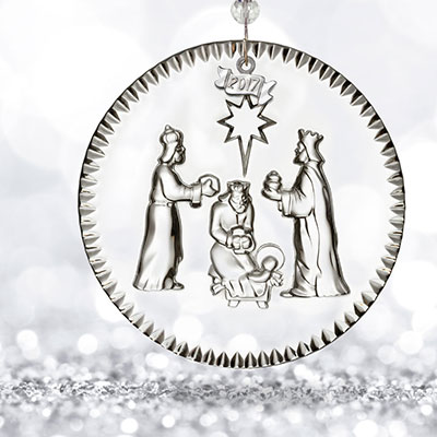 Waterford Crystal, 2017 Nativity Three Wise Men Crystal Ornament