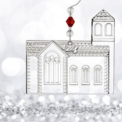 Waterford Crystal, 2017 Dimensional Church Crystal Ornament