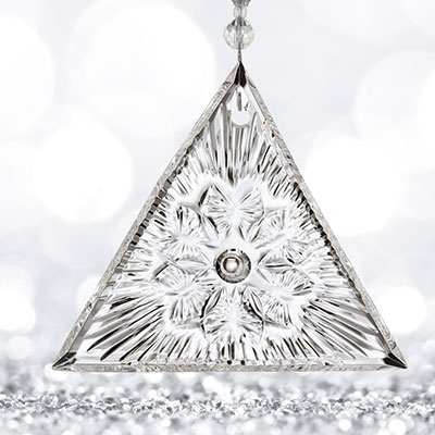 Waterford 2018 Times Square Triangle Ornament