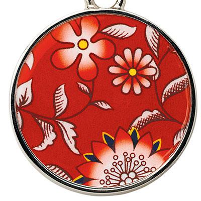 Wedgwood Wonderlust Key Ring, Crimson Jewel