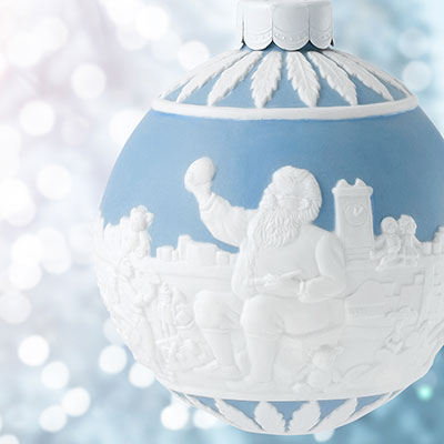 Wedgwood Santa's Workshop Blue Ornament