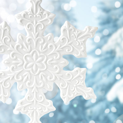 Wedgwood 2018 White Snowflake Ornament