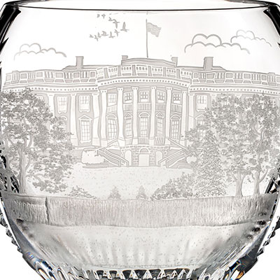 Waterford Crystal, House of Waterford America the Beautiful Washington D.C. Crystal Bowl