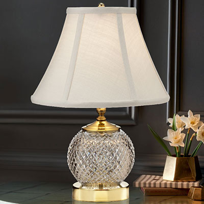 "Waterford Crystal, Alana Mini 15 1/2"" Accent Crystal Lamp"