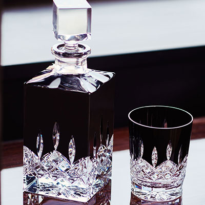 Waterford Crystal, Lismore Black Square Crystal Decanter, Black
