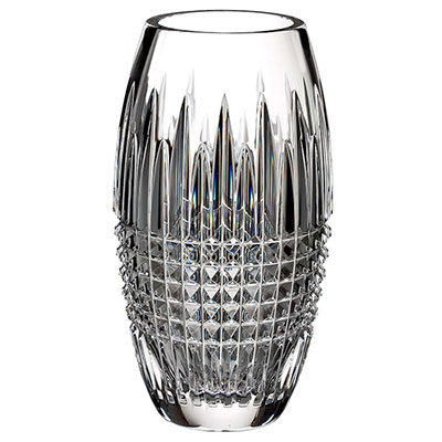 "Waterford Crystal, Lismore Diamond Encore 8"" Crystal Vase"