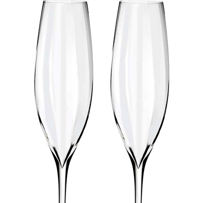 Waterford Crystal, Elegance Optic Classic Champagne Crystal Flutes, Pair