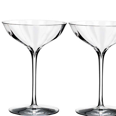Waterford Elegance Optic Belle Coupe, Pair
