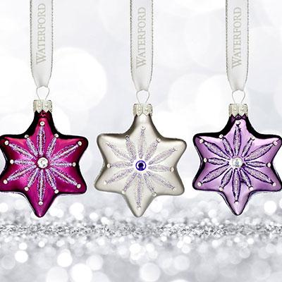 Waterford 2017 Holiday Heirloom Sensations Snowflake Ornament, Set of Three