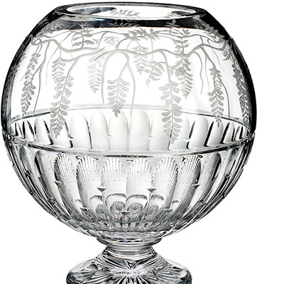 Waterford Crystal, House of Waterford Matt Kehoe Wisteria Footed Crystal Centerpiece, Limited Edition of 400