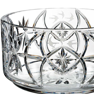 "Waterford Crystal, House of Waterford Tom Cooke Swallow 10"" Crystal Bowl, Limited Edition of 400"