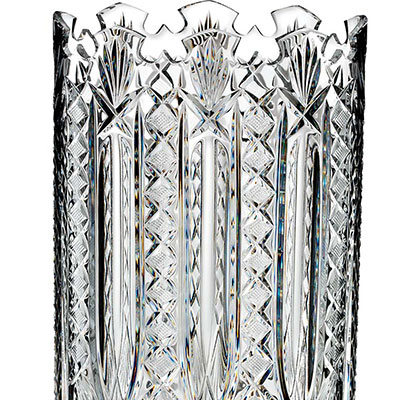 "Waterford Crystal, House of Waterford Maritana 14"" Oval Crystal Vase, Limited Edition of 200"