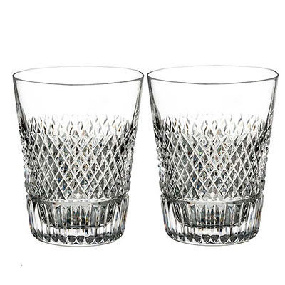 Waterford Crystal, Diamond Line Crystal Shot Glass, Pair