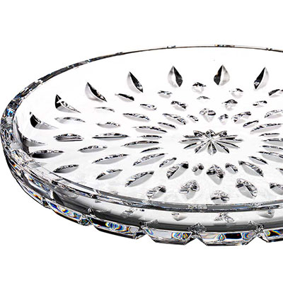 "Waterford Crystal, Ardan Enis 10"" Cake Plate Serving Tray"