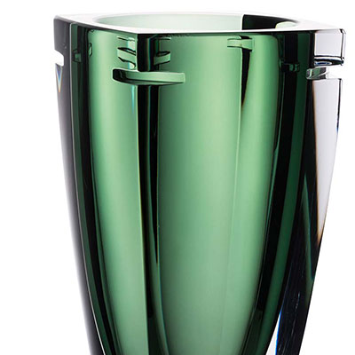 "Waterford Crystal, W Fern 10"" Crystal Vase"