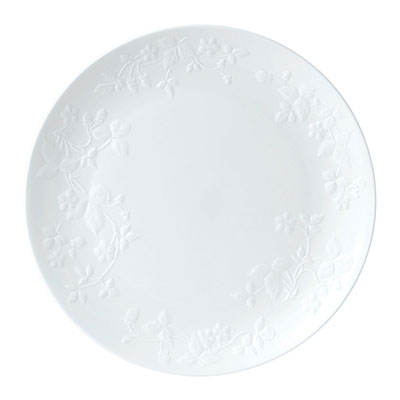 "Wedgwood Wild Strawberry White Dinner Plate 10.6"""