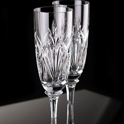 Waterford Crystal, Emilia Toasting Crystal Flutes, Pair