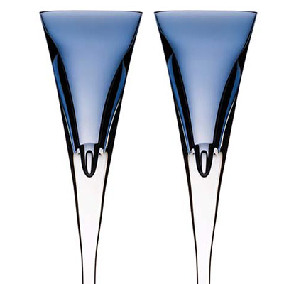 Waterford Crystal, W Sky Toasting Crystal Flutes, Pair